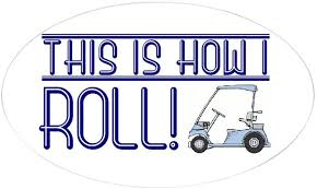 Amazon Com Cafepress How I Roll Golf Cart Oval Sticker Oval Bumper Sticker Euro Oval Car Decal Home Kitchen
