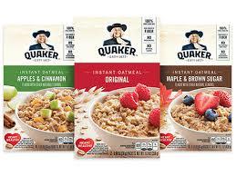 instant oatmeal quaker oats
