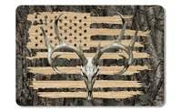 American Flag Whitetail Buck Skull Camo Cooler Lid Skin Decal Firehouse Graphics
