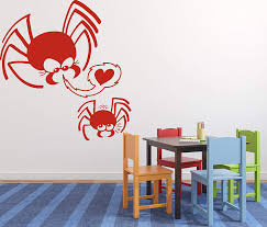 Wall Sticker Vinyl Decal Cute Little Family Spiders Mom Son Love Heart N225