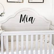 Amazon Com Vinyl Wall Art Decal Girls Name Mia Text Name 12 X 19 Girls Bedroom Vinyl Wall Decals Cute Wall Art Decals For Baby Girl Nursery Room Decor