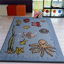 Modern Large Blue Area Rugs Sea World Rug For Kids Bedroom Pictures 59 Rugs Design
