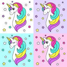 El Personaje De Dibujos Animados Infantil Lindo Como Unicornio