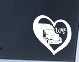 Trucker S Wife Vinyl Etsy