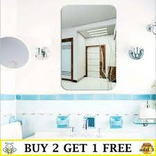 mirror tile wall stickers square self