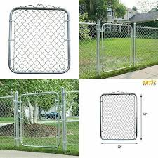 Mtb Galvanized Chain Link Garden Walking Fence Gate 48 Inch Overall Height By 32 Inch Frame