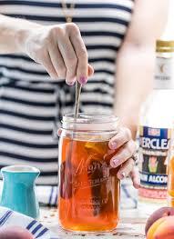 homemade peach tea vodka spiked