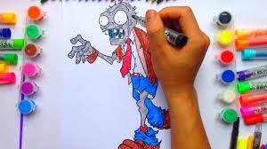 Bé Tập Tô Màu - Tô Màu Zombie - Tập Tô Màu Nhân Vật - YouTube
