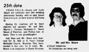 Judy and Duane Moore 25th Anniversary - Newspapers.com