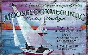 lake lodge vintage wooden sign beach