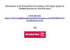 brilliant remarks quips women know everything quotes