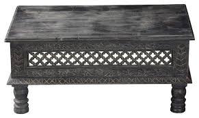 mango wood hand carved coffee table
