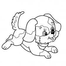 Stockillustratie Van Kleurplaat Hond Rechtenvrije Tekenkunst Van