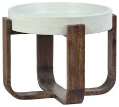 cement top modern side table