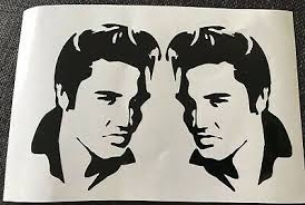 Elvis Presley Vinyl Stickers Car Vehicle Window Decal Cards Silhouette Crafts Ebay