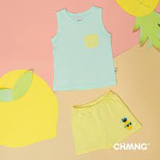 Bộ đồ ba lỗ cho bé trai bé gái Chaang logo trái dứa từ 3 tháng đến 5 tuổi -  AWAWA STORE - Quần áo thời trang trẻ em CHAANG, VNXK
