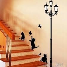 Cats Street Lamp Lighs Stickers Wall Decal Removable Art Vinyl Mural Decal Decor Buy At A Low Prices On Joom E Commerce Platform