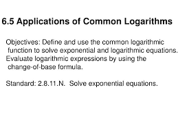 6 5 s of common logarithms