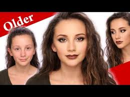 how to look older with makeup when