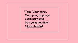 belajar soal cinta yang sederhana dari quotes milik asma nadia