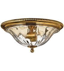 light 16 inch burnished brass flush