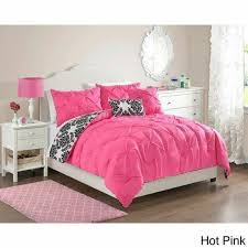 twin full queen bed black white damask