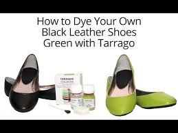 dye your leather shoes