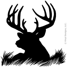 Amazon Com Deer Head Silhouette Buck Hunting Vinyl Wall Decal Sticker Art Home Decor Mural Home Kitchen