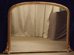 antique gilt overmantle mirror c 1880