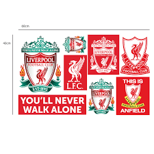 Amazon Com Official Liverpool Fc Official Liver Bird Wall Sticker Lfc Decal Set Vinyl Poster Print Mural Red 90cm Height Baby