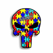 Autism Awareness Skull Decal Different Not Less