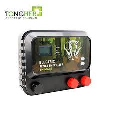 Tongher Low Impedance 110 120 Volt 40km 12 Joules Range Electric Fence Charger Green Lawn Garden Store Fence Charger Electric Fence Electric Fence Energizer
