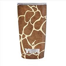 Amazon Com Skin Decal Vinyl Wrap For Yeti 20 Oz Rambler Tumbler Cup Skins Stickers Cover Giraffe Print Cute Giraffe Kitchen Dining