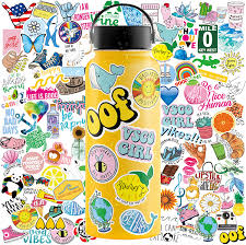 Amazon Com Vsco Stickers 100 Pack Water Bottle Stickers Hydroflask Stickers Waterproof Girls Aesthetic Stickers For Water Bottles Waterproof Stickers Hydro Flask Stickers For Teens Aesthetic Cute Stickers Kitchen Dining
