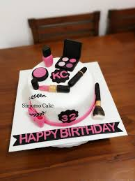 happy birthday makeup cake saubhaya
