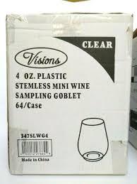 threshold plastic stemless wine glass
