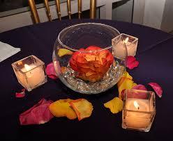 glass bowl wedding centerpiece with