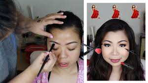 wedding guest makeup quick monolids