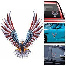 1pcs Vulture American Flag Refit Sticker Car Body Racing Side Door Lon Jyards