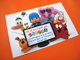 Tarjetas Invitacion Cumpleanos Infantil Pocoyo Con Foto 22 00
