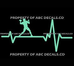 Vrs Heart Beat Line Football Quarterback Throw On The Run Ball Car Vinyl Decal Ebay