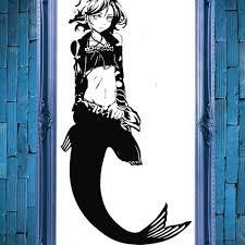 Mermaid Anime Swimming Ocean Decal Vinyl Sticker Wall Home Decor Vinylwallaccents On Artfire