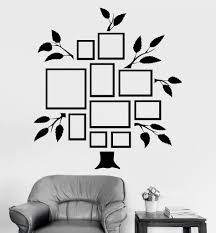 Vinyl Wall Decal Family Tree Frames For Photos Design For Living Rooms Stickers Unique Gift 8 Vinyl Wall Decals Family Family Tree Wall Decal Family Tree Wall
