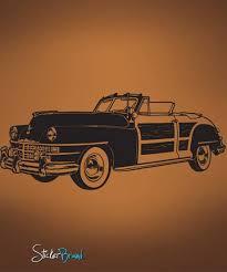 Vinyl Wall Decal Sticker Classic Woody Car 671 Stickerbrand