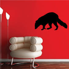 Raccoon Sniffing Decal
