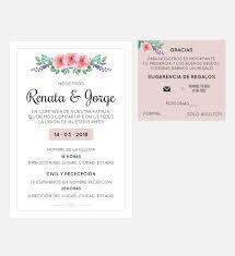 Invitacion Boda Flor Peronalizable Y Lista Para Imprimir