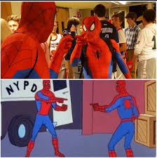 Two People At My School Dance Both Wore Spiderman Costumes Spiderman Spiderman Meme Hmm Meme