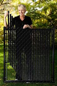 Amazon Com 4ft Black Ridged Slats For Chain Link Fence Patio Lawn Garden Chain Link Fence Painted Chain Link Fence Chain Fence