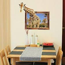 3d Fake Window View Wall Stickers Charm Scenery