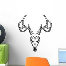 Deer Skull Wall Decal Wallmonkeys Com